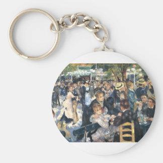 Le Moulin de la Galette Montmarte Paris Basic Round Button Key Ring