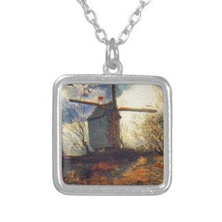 Le Moulin de la Galette Van Gogh Silver Plated Necklace