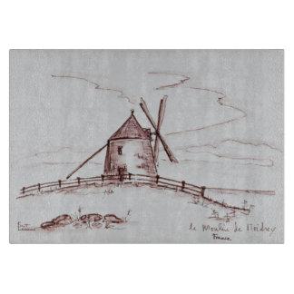 Le Moulin de Moidrey Windmill   Pontorson Cutting Board