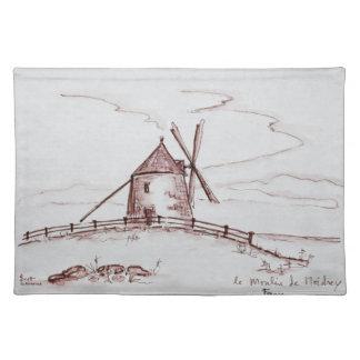 Le Moulin de Moidrey Windmill | Pontorson Placemat
