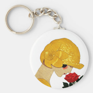 Le Parfum De La Rose Basic Round Button Key Ring