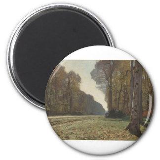 Le Pavé de Chailly (1865) 6 Cm Round Magnet