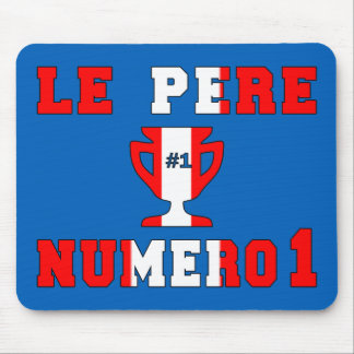Le Père Numero 1 #1 Dad in Canadian Father's Day Mousepad