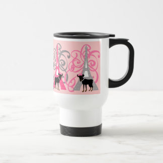 Le petit chien à Paris Travel Mug