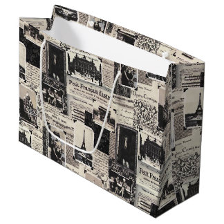 Le Petit Francais Illustre Large Gift Bag