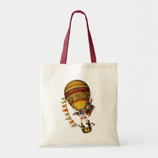 Le Pilote Hot Air Balloon Budget Tote Bag