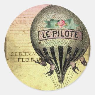 *Le PiLoTe* Round Sticker
