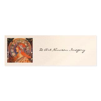 Le Plume Art Nouveau Design Pack Of Skinny Business Cards