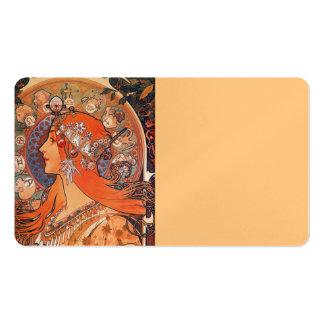 Le Plume Art Nouveau Design Pack Of Standard Business Cards