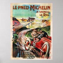Le Pneu Michelin French Vintage Advertisment Print