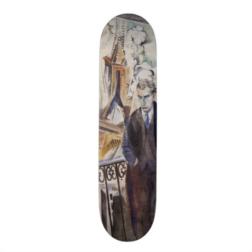 Le Poète Philippe Soupault by Robert Delaunay 1922 Skateboard