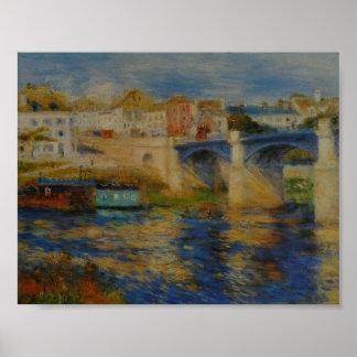 Le Pont de Chatou - Pierre-Auguste Renoir 1875 Poster