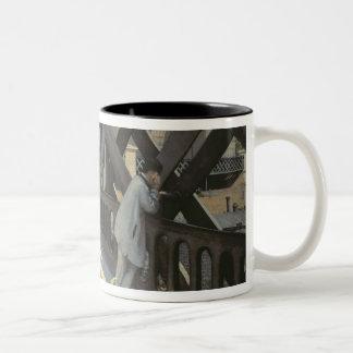 Le Pont de L'Europe, 1876 Two-Tone Coffee Mug