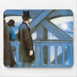 Le Pont de l'Europe by Gustave Caillebotte Mouse Pad