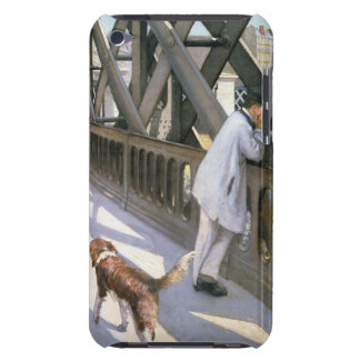 Le Pont de L'Europe: detail of a resting man and a iPod Touch Covers