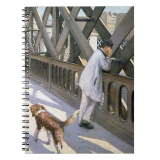 Le Pont de L'Europe: detail of a resting man and a Spiral Notebooks