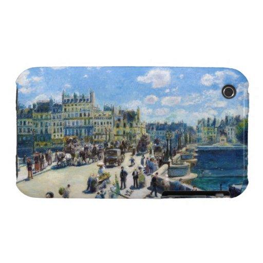 Le Pont-Neuf, Paris Pierre Auguste Renoir painting Case-Mate iPhone 3 Cases