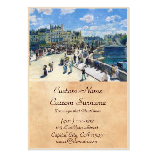 Le Pont-Neuf, Paris Pierre Auguste Renoir painting Pack Of Chubby Business Cards