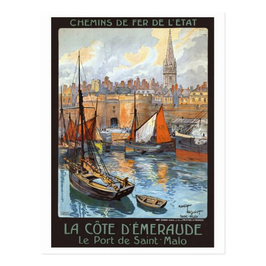 Le Port de Saint Malo France Vintage Travel