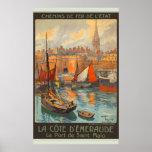 Le Port de Saint-Malo Poster