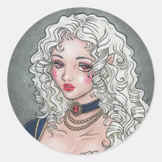 Le Portrait De La Vampiresse Gothic Sticker