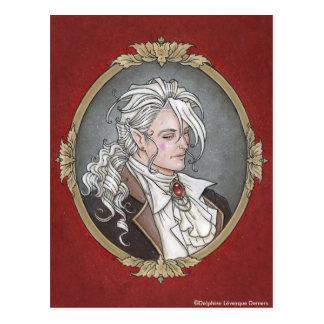 Le Portrait Du Vampire Gothic Postcard