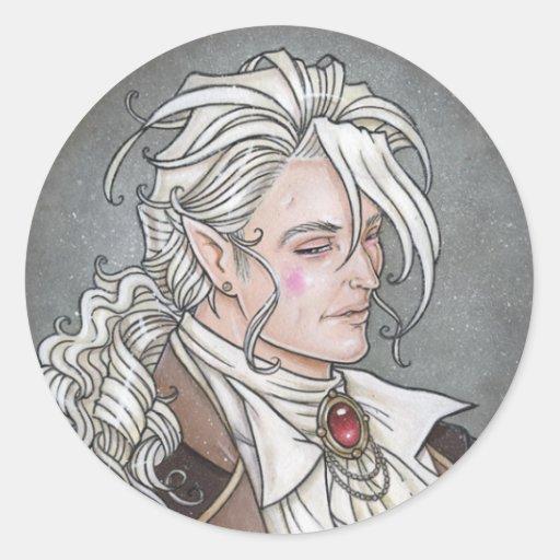Le Portrait Du Vampire Gothic Sticker