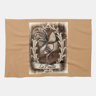 Le Poulet_rustic Tea Towel