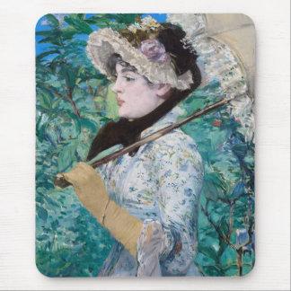 Le Printemps Manet Fine Art Painting Mousepad