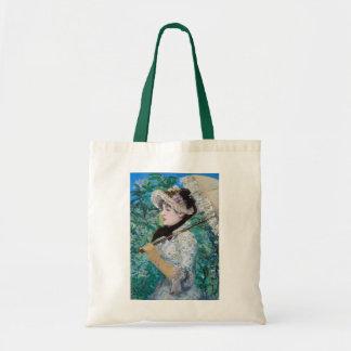 Le Printemps Manet Fine Art Painting Tote Bag