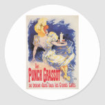 Le Punch Grassot Vintage Wine Drink Ad Art Sticker