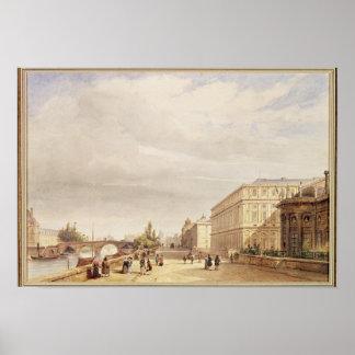 Le Quai d'Orsay, 1839 Print