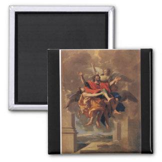 Le Ravissement de Saint Paul 1650 by Poussin Refrigerator Magnet