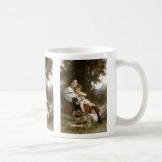 Le Repos (The Rest) William-Adolphe Bouguereau Basic White Mug