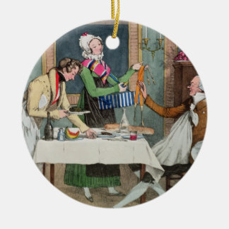 Le Restaurant, pub. by Rodwell and Martin, 1820 (c Round Ceramic Decoration