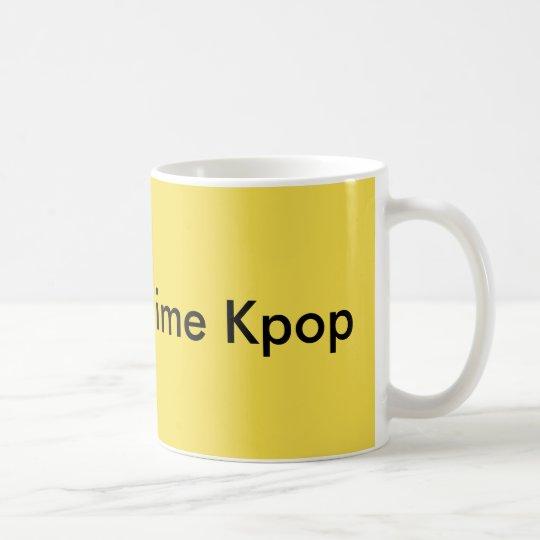 Le Rok je t'aime Kpop Yellow Basic Mug