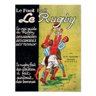 Le Rugby - Vintage Poster