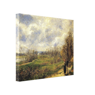 """Le Sente du Chou, Near Pontoise"" - Wrapped Canvas"