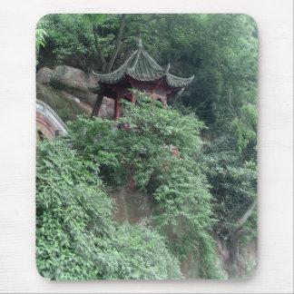 Le Shan Mountainside Buddhist Pavilion Mouse Pad