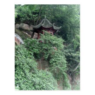 Le Shan Mountainside Buddhist Pavilion Postcard