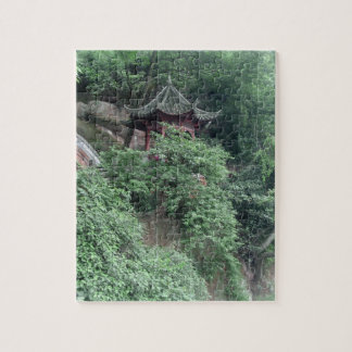 Le Shan Mountainside Buddhist Pavilion Jigsaw Puzzles