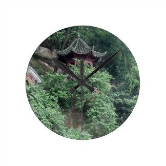 Le Shan Mountainside Buddhist Pavilion Wallclock