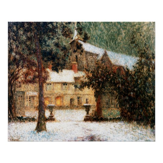 Le Sidaner: House in Snow Poster