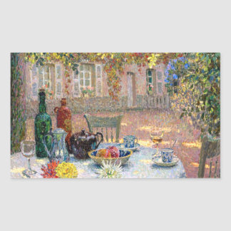 Le Sidaner: Table under Leaves in the Sun Rectangular Sticker
