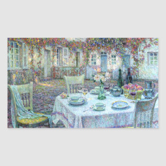 Le Sidaner Table with Roses at Gerberoy Rectangle Sticker