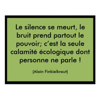 Le silence se meurt postcard