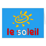 Le Soleil The Sun in Canadian Summer Vacation Note Card