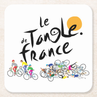 Le Tangle de France (Le Tour de France) Square Paper Coaster