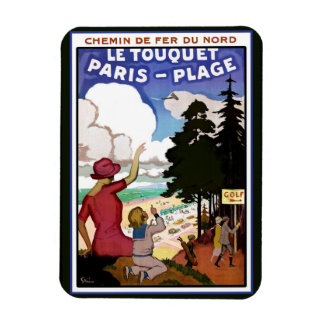 Le Touquet Poster Rectangular Photo Magnet
