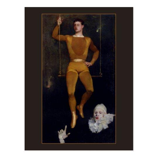 Le Trapeziste et le Clown by Charles Giron Postcard